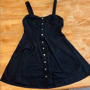 Forever 21 button up suede dress. Size M